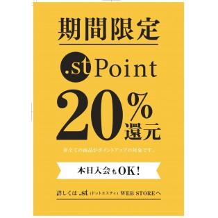 .stポイント20%還元イベント開催!!