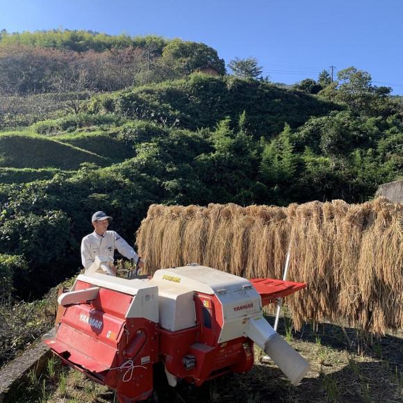 井仁の棚田で米づくり【脱穀編】