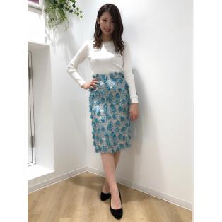 ♡フリンジジャガードタイトスカート♡