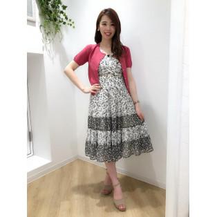 ♡ベーシック半袖ビジュー釦カーディガン♡