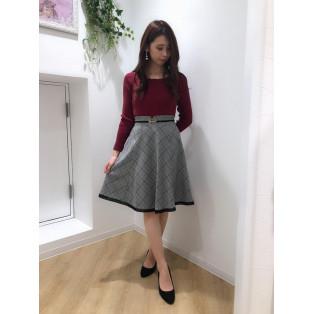 ♡チェックビットハギスカート♡