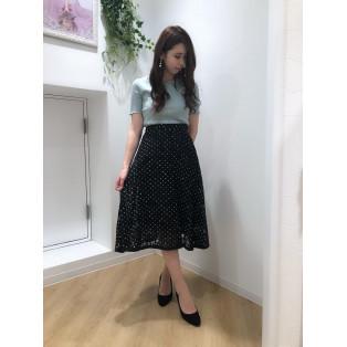 ♡ドットレースミディスカート♡