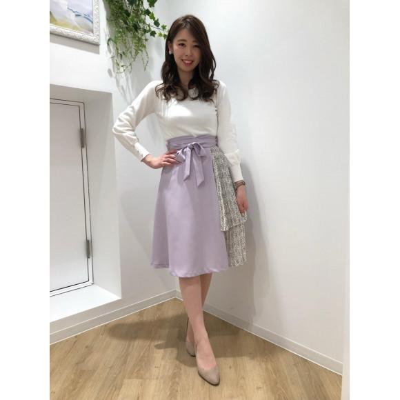 ♡小花柄ティアードプリーツスカート♡