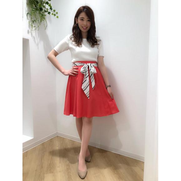♡スカーフベルト付きフレアスカート♡