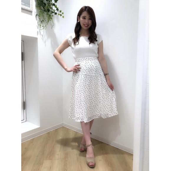 ♡ドットアシメプリーツスカート♡