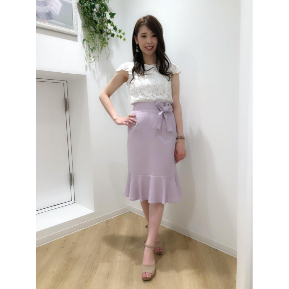 ♡ハトメ使いペプラムスカート♡
