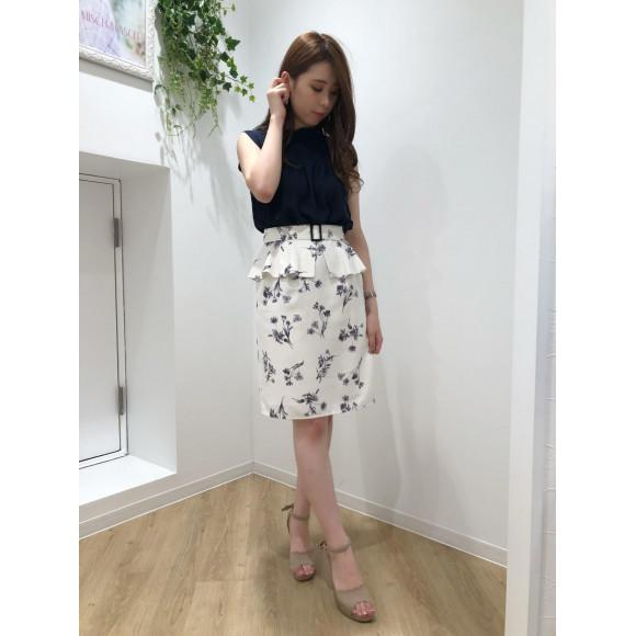 ♡モノトーンペプラムスカート♡