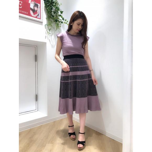 ♡配色ニットスカート♡