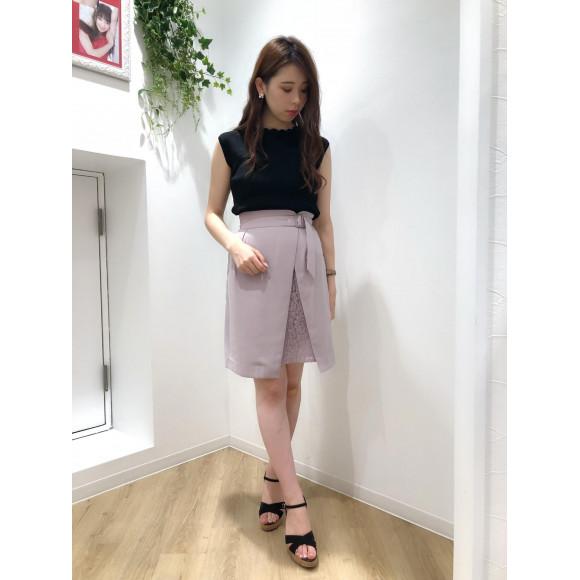 ♡部分レースタイトスカート♡