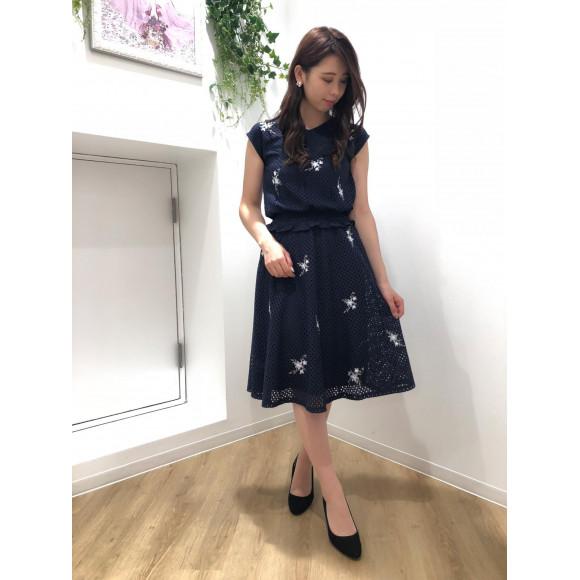 ♡刺繍フラワーレーススカート♡