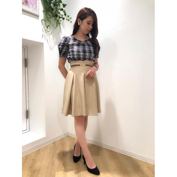 ♡ボックスタックベルト付きスカート♡