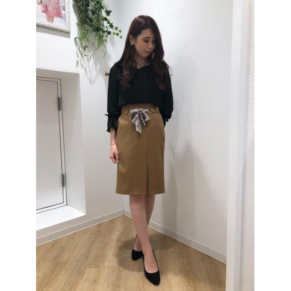 ♡スカーフベルトタイトスカート♡