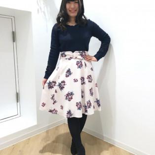 ♡衿スカラ刺繍袖レースニット♡
