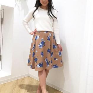 花柄ミディフレアスカート♡