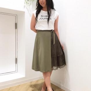 リブカーデロゴTシャツセット♡
