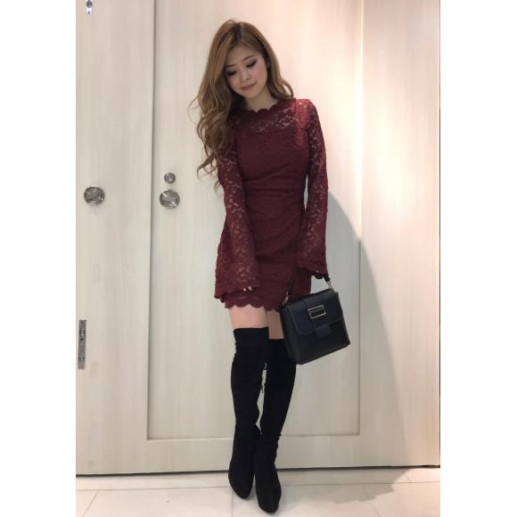 dress line onepiece❤︎あやな