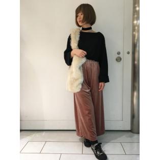 大人気のベロアワイドパンツ!!