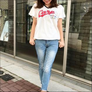 広島東洋CARP×VICKYコラボTシャツ【レディース/ホワイト】
