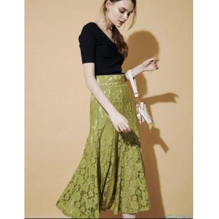カラー豊富!レーススカート