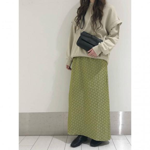 ジャガードマキシスカート