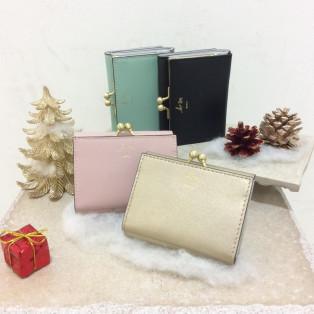 【オリジナル】三つ折りガマ口財布