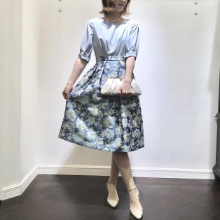 ♡フラワージャガードドレス♡