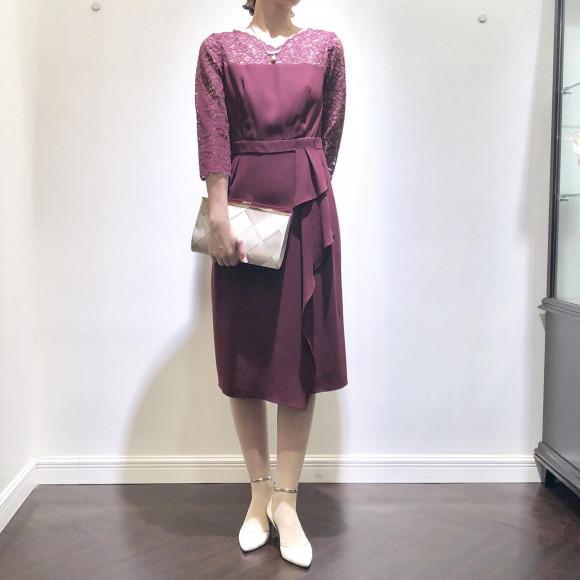 ♡袖付きタイトドレス♡