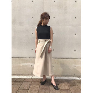 ウォッシャブルラップスカート