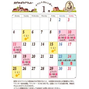 ステラおばさんのクッキーイベントカレンダー1月