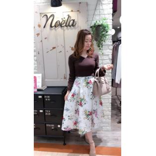 新作♡花柄スカート