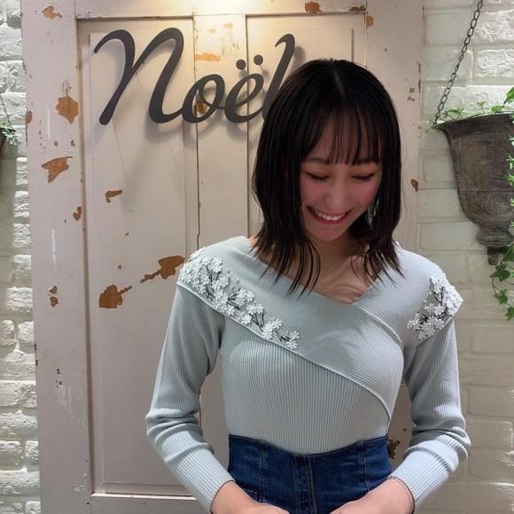 新作♡小花刺繍ニット
