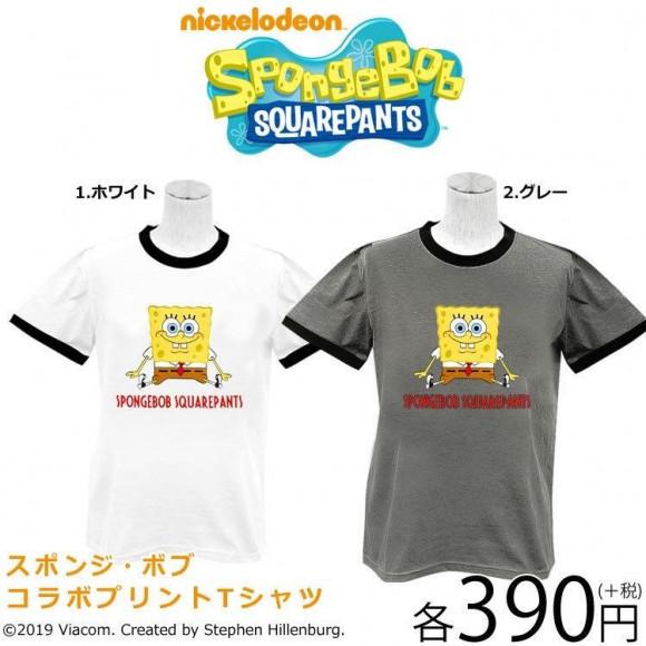 NEW☆スポンジボブコラボTシャツ