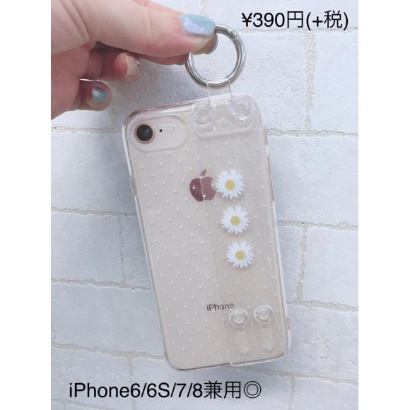 NEW☆ベルト付きクリアiPhoneケース