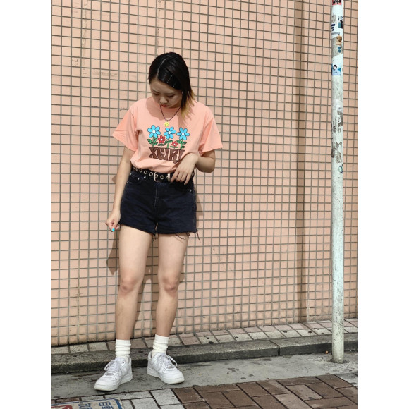 FLOWER CROPPED S/S TEE