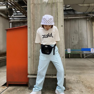 X-girl MONOGRAM BUCKET HAT & S/S TEE