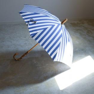 ストライプ/ラミーリネン/コットンリネン 日傘