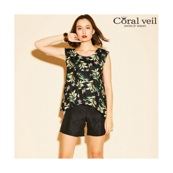 【Coral veil】ボタニカル タンキニ4点セット