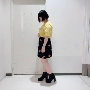 ●フード柄ニットスカート●