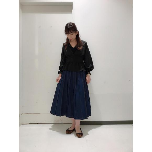 ☆デニムプリーツロングスカート☆
