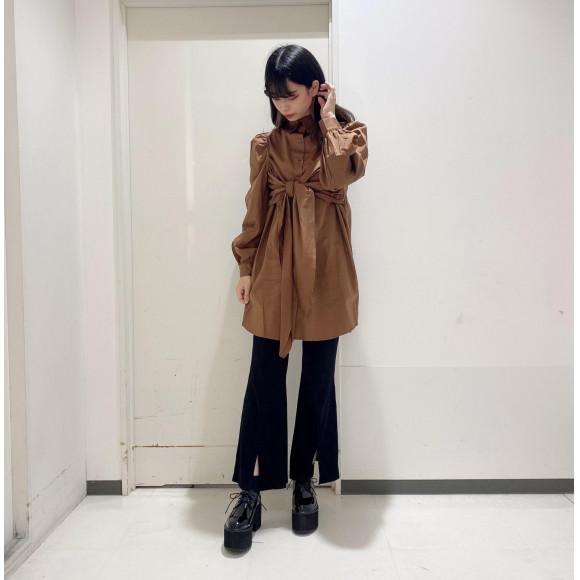 ☆フロントリボンシャツワンピース☆