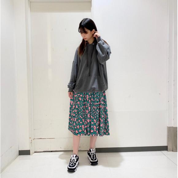 ☆レオパード柄ギャザーロングスカート☆