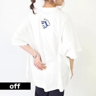 SHARK 前後刺繍 オーバーサイズTシャツ