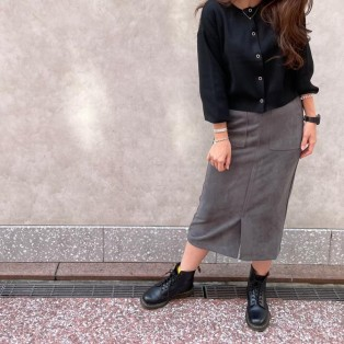 フェイクスエードスカート【color グレー】