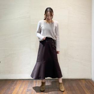 ♡マーメイドシルエットが大人可愛いサス付きスカート♡