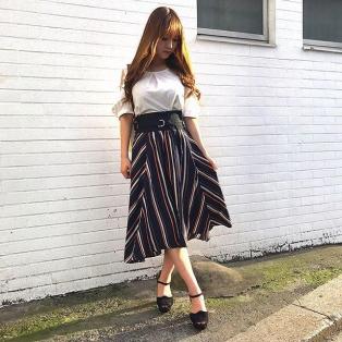 ベルト付きバックテールスカート♡