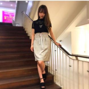 ベルト付きタイトスカート♡