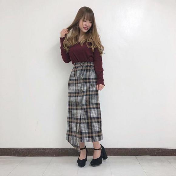 ♡ラップナロースカート♡