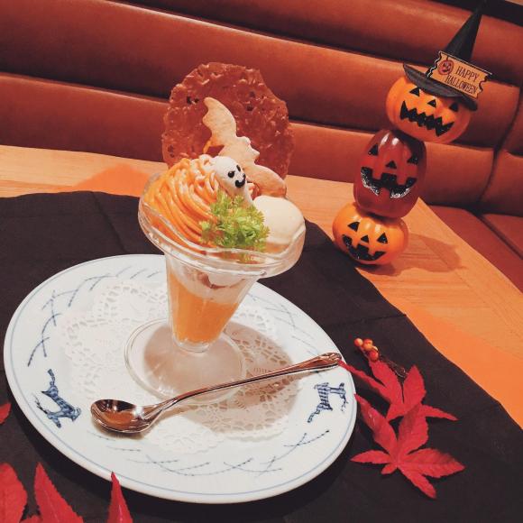 かぼちゃのハロウィンパフェ