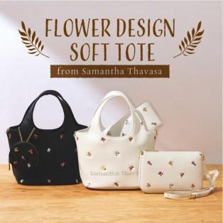 【ST Garden】オリジナルフラワー刺繍 トートバッグ