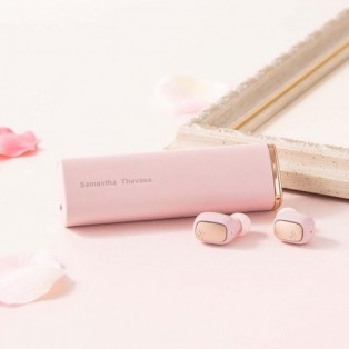 【再入荷】サマンサタバサ ワイヤレスイヤホン ピンク